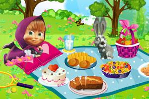 《玛莎和熊去野餐》游戏画面1
