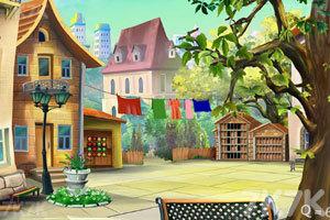 《逃离小镇广场》游戏画面1