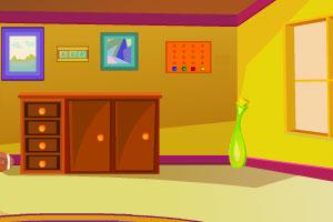 《漂亮的黄色房间逃脱》游戏画面1