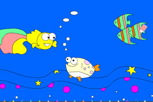 《海底小鱼上色》游戏画面1