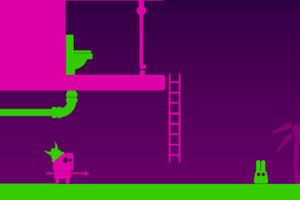 《长耳朵小绿怪H5版》游戏画面1