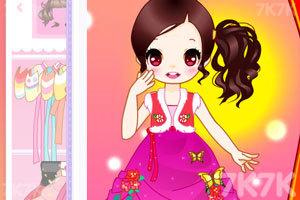 《可爱女生穿韩服》游戏画面3