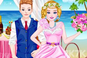 《设计你的海滩婚纱》游戏画面1