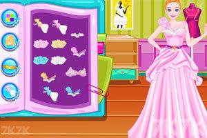 《设计你的海滩婚纱》游戏画面2