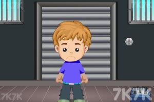 小男孩逃离工厂