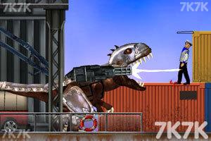 《霸王龙大战食人鲨无敌版》游戏画面2