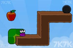 《貪吃的蘋果蟲》游戲畫面4