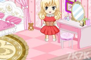 《冰雪公主娃娃屋装饰》游戏画面1