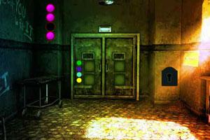 逃离漆黑废弃的房间