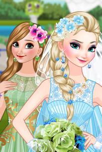 新娘艾莎和伴娘安娜