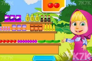 《玛莎制作沙拉》游戏画面3
