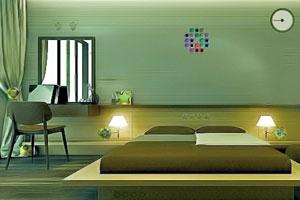 《逃出可爱的绿色房间》游戏画面1
