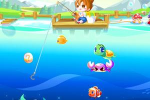 《小奥比捕鱼》游戏画面1