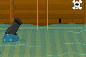 逃离进水的海盗船