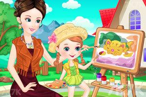 《母女的画画时光》游戏画面1