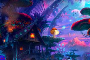 《逃离蘑菇幻想村庄》游戏画面1