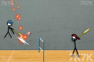 《火柴人打羽毛球3》游戏画面6