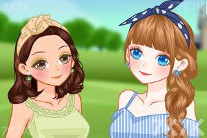 《草坪上的女孩》截图2