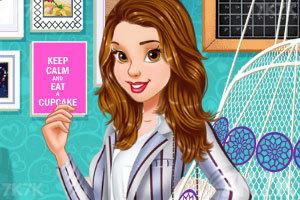 《复古装的女孩》游戏画面2
