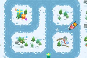 《圣诞爷爷滑雪橇选关版》游戏画面1