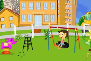 《学校花园清洁》游戏画面1