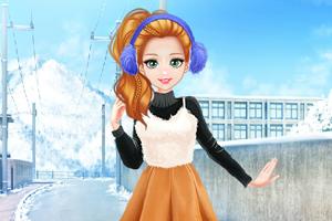 《甜美奥莉去滑雪》游戏画面1