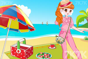 《元气少女海边野餐》游戏画面2