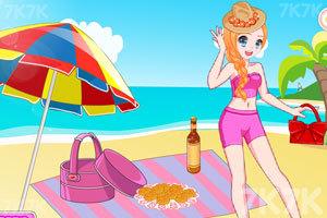 《元气少女海边野餐》游戏画面1