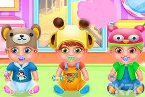 《保姆与三胞胎的一天》游戏画面1