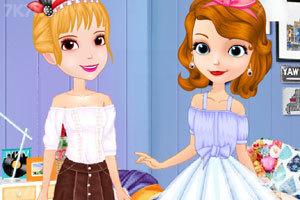 《索菲亚和安伯的休闲装》游戏画面2