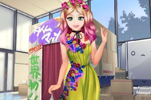 甜美奥莉暑假逛街