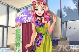 《甜美奥莉暑假逛街》游戏画面1