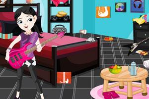 《女孩清洁音乐室》游戏画面1