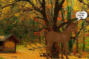 《秋季森林小马逃脱》游戏画面1