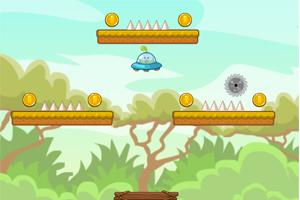 《豆娃开飞碟》游戏画面1