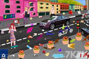 《公主新年城市清洁》游戏画面2