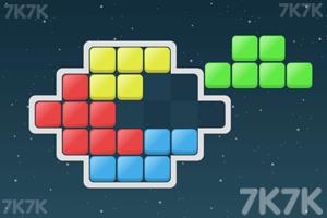 五彩太空砖