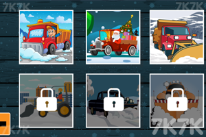 《冬季卡车拼图》游戏画面2
