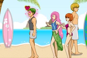 《海滩电眼女生》游戏画面1