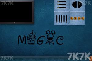 《暗蓝房子逃脱》游戏画面2