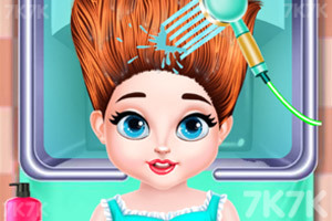 《宝贝的创意发型》游戏画面1