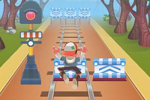《铁路跑酷无敌版》游戏画面1