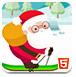 圣诞老人躲雪崩