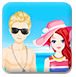 情侣海边度假