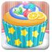 女孩做纸杯蛋糕