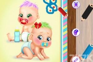 《双胞胎阁楼换装》游戏画面1