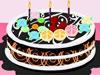 制作七彩蛋糕展示一
