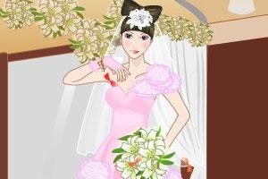 卧室中魅力新娘