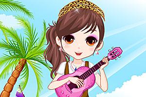 弹吉他的女孩