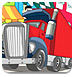 驾驶大卡车停车